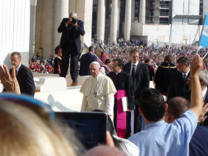 Pope arrives