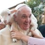 Pope Francis with lamb