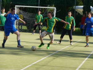 Action from this year's Fr Ragheed Ganni Memorial Soccer Tournament.