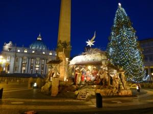Vatican Christmas scene 3X