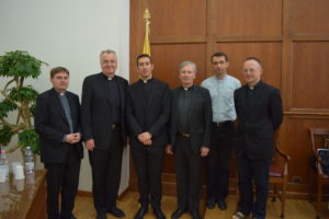 Fr José Carlos Isla Tejera, pictured with members of the Pontifical Irish College community who attended his doctoral defence. Left to right: Fr Hugh Clifford (Director of Formation), Mons. Ciarán O'Carroll (Rector), Fr José Carlos Isla Tejera, Fr Thomas Norris (Spiritual Director), Fr Vasile Petrisor (postgraduate Priest student), Fr Colin Rothery (postgraduate Priest student).
